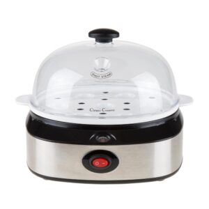 Classic Cuisine 7-Egg Silver Egg Cooker with Automatic Shut-off