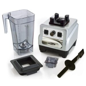 Omega 3 HP 64 oz. Variable 10-Speed Silver Blender with Container