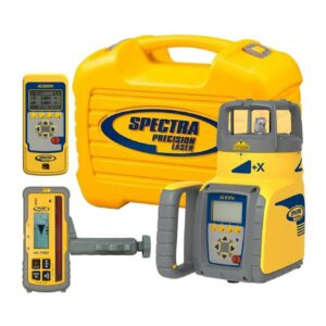 Spectra Precision Red Beam Self-Leveling Rotary Grade Laser Level with HL760 Receiver (8-Piece)