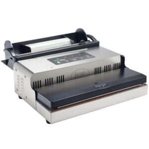 LEM MaxVac 1000 Stainless Steel Food Vacuum Sealer with Bag Holder and Bag Cutter