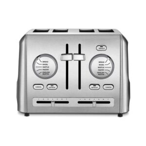 Cuisinart Custom Select 4-Slice Stainless Steel Toaster with Crumb Tray