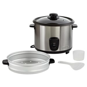IMUSA 20-Cup Stainless Steel Rice Cooker with Non-Stick Interior