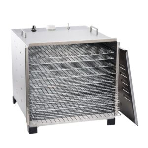 LEM 10-Tray Stainless Steel Food Dehydrator with Built-In Timer