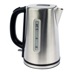 Magic Chef 7-Cup Stainless Steel Electric Kettle with Cord Storage