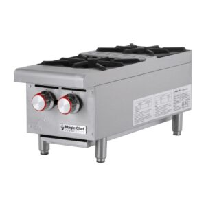 Magic Chef 12 in. W Commercial Natural Gas Countertop Hot Plate in Stainless Steel