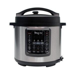 Magic Chef All-In-One 6 Qt. Stainless Steel Electric Multi-Cooker with Recipe Book