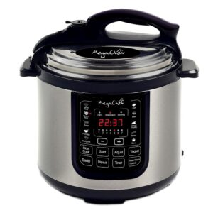 MegaChef 8 Qt. Stainless Steel Electric Pressure Cooker with Stainless Steel Pot