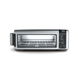 NINJA Stainless Steel Foodi Digital Air Fry Oven, Convection Oven, Toaster, Air Fryer, Flip-Away for Storage
