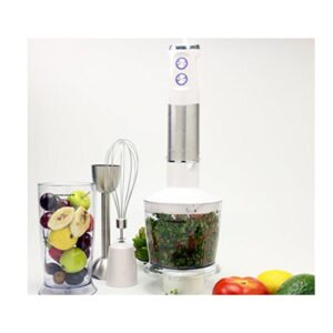 Ovente Multi-Purpose Immersion Hand Blender Set 500-Watts, Stainless Steel, 6-Speed Control, Includes Attachments