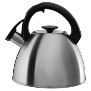 OXO Good Grips Click-Click 8.4-Cup Brushed Stainless Steel Tea Kettle