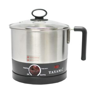 Tayama 1 Qt. Stainless Steel Slow Cooker with Temperature Settings and Glass Lid
