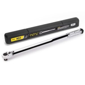 Stark 3/4 in. Drive 1-Way Micro-Adjustable Torque Clicker Wrench with Storage Case