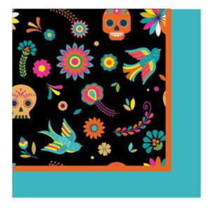 Sugar Plum Party Lunch Napkin Day of Dead (32-Piece)