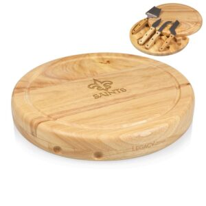 TOSCANA New Orleans Saints Circo Wood Cheese Board Set with Tools