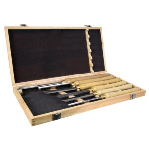 WEN 16 in. to 22 in. Artisan Chisel Set with High-Speed Steel Blades and Domestic Ash Handles (6-Piece)