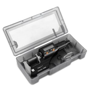 WEN Standard and Metric Digital Micrometer with 0 in. to 1 in. Range, 0.00005 in. Accuracy, LCD Readout and Storage Case