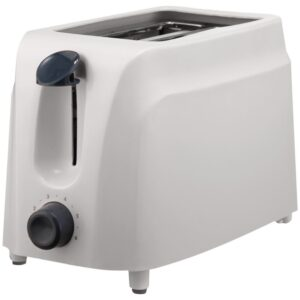 Brentwood 2-Slice White Toaster with Cool-Touch Exterior