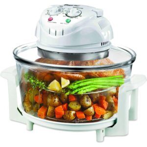 Magic Chef 1300 W White Convection Countertop Oven with Built-In Timer