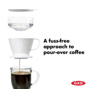 OXO Good Grips 1.5-Cup White Pour-Over Coffee Maker