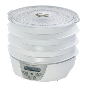 Presto Dehydro 6 Tray White Digital Electric Food Dehydrator with Digital Thermostat and Timer