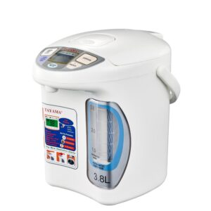 Tayama 16 Cup White Electric Thermo Dispenser with Wide Angle Water Level Window
