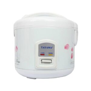 Tayama 10-Cup White Rice Cooker with Steamer and Non-Stick Inner Pot