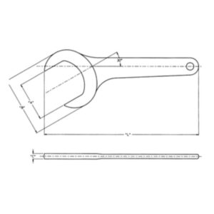 Wright Tool 1-1/2 in. 30-Degree Angle Satin Open End Service Wrench