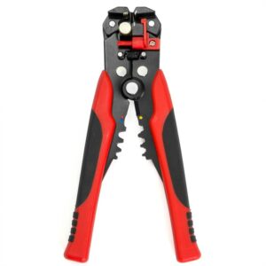 XtremepowerUS 8 in. Self-Adjusting Wire Stripper/Cutter for 10-22 AWG and 4-22 AWG Wire